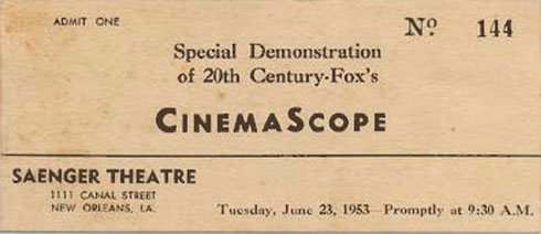 cinemascope bilhete