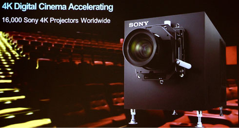 projector digital 4k sony